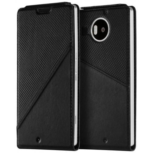 Mozo Flip Cover Black Microsoft Lumia 950 XL