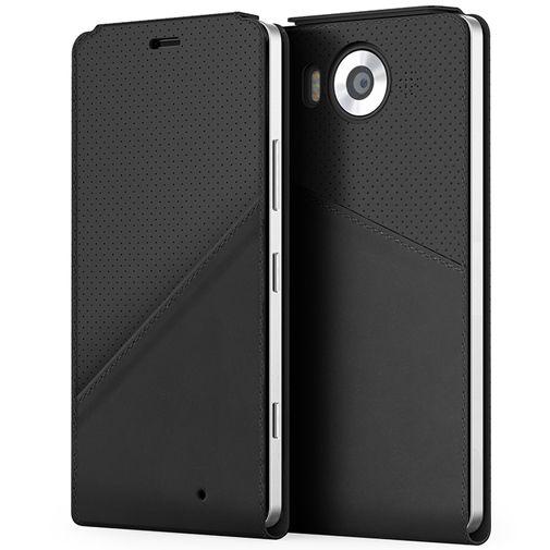 Mozo Flip Cover Black Microsoft Lumia 950