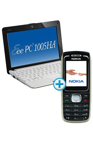 Nokia 1616 Black + Asus Eee PC 1005HA