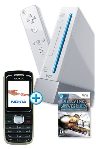 Nintendo Wii + Nokia 1616 Black