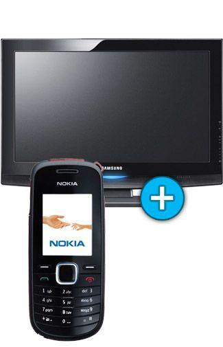 Samsung 32 inch TV + Nokia 1616 Black