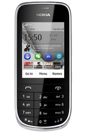 Nokia Asha 203 Silver White
