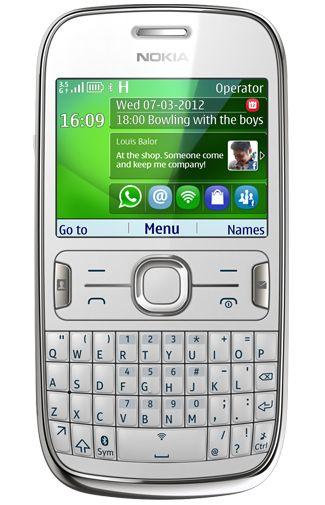 Nokia Asha 302 Dark White