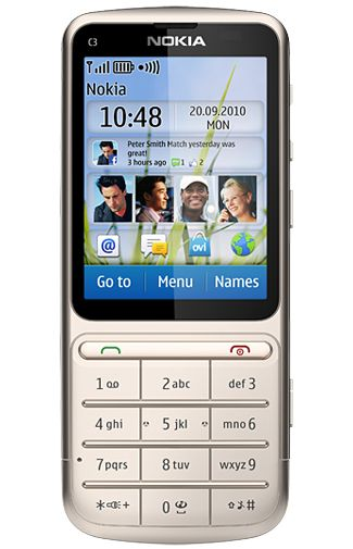 Nokia C3-01 Touch and Type Golden White