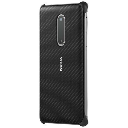 Nokia Carbon Fibre Look Back Case Black Nokia 5