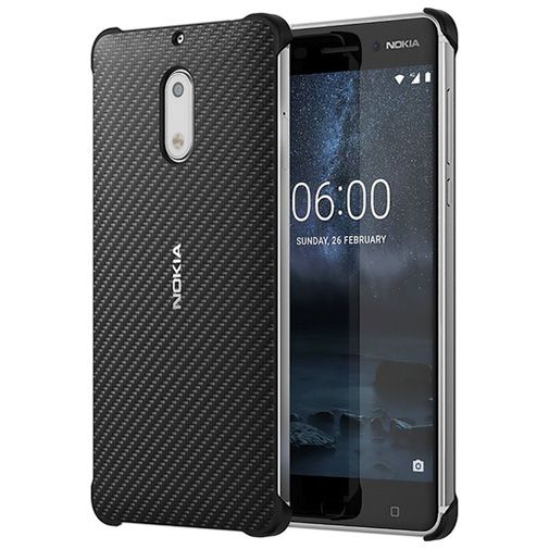 Nokia Carbon Fibre Look Back Case Black Nokia 6