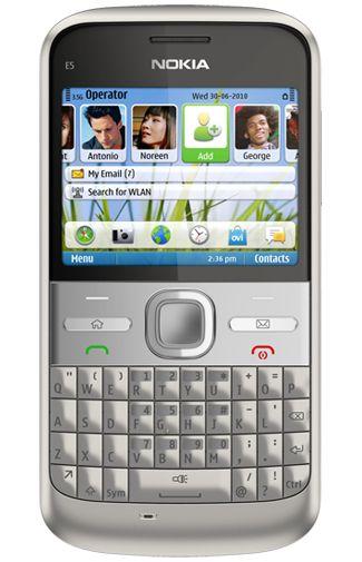 Nokia E5 Silver Grey