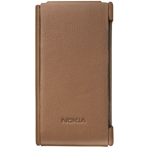 Nokia Lumia 800 Flip Case Brown