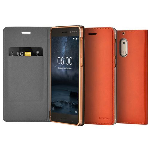 Nokia Slim Flip Case Brown Nokia 6
