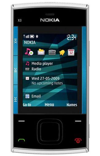 Nokia X3  Silver Black
