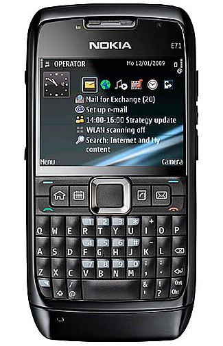 Nokia E71 Black Steel