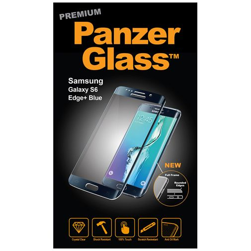 PanzerGlass Premium Screenprotector Black Blue Samsung Galaxy S6 Edge Plus