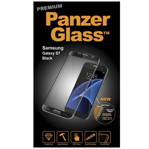 PanzerGlass Premium Screenprotector Black Samsung Galaxy S7
