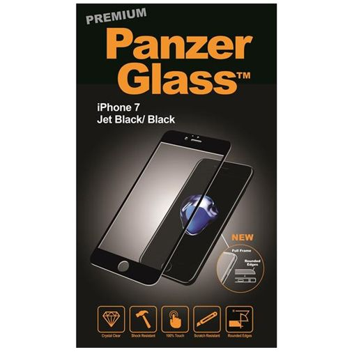 PanzerGlass Premium Screenprotector Jet Black Apple iPhone 7