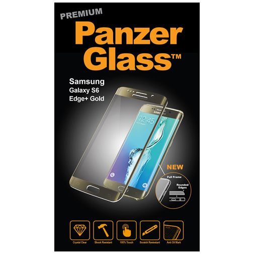 PanzerGlass Premium Screenprotector Gold Samsung Galaxy S6 Edge Plus