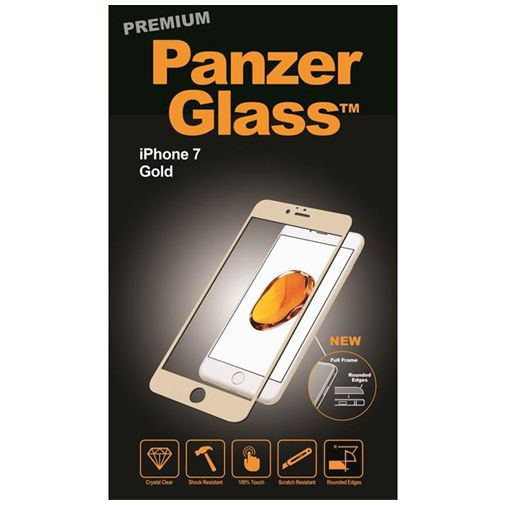 PanzerGlass Premium Screenprotector Gold Apple iPhone 7