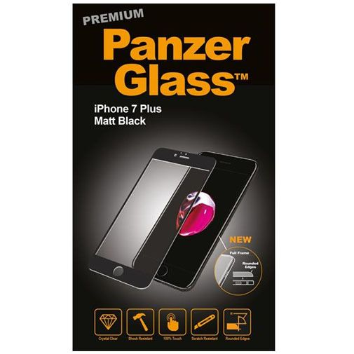 PanzerGlass Premium Screenprotector Matt Black Apple iPhone 7 Plus