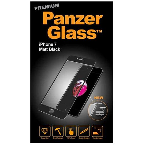 PanzerGlass Premium Screenprotector Matt Black Apple iPhone 7