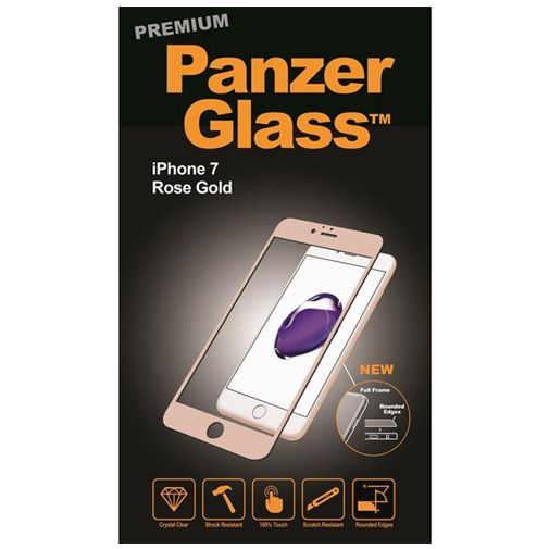 PanzerGlass Premium Screenprotector Rose Gold Apple iPhone 7