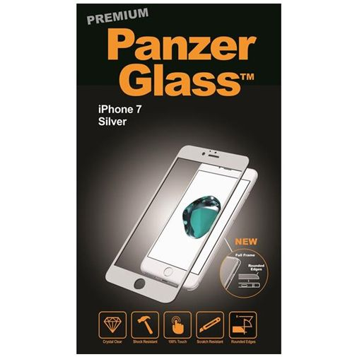 PanzerGlass Premium Screenprotector Silver Apple iPhone 7