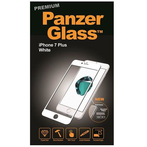 Productafbeelding van de PanzerGlass Premium Screenprotector White Apple iPhone 7 Plus