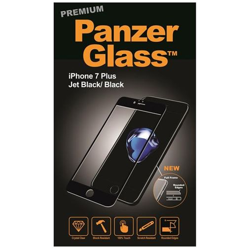 Productafbeelding van de PanzerGlass Premium Screenprotector Jet Black Apple iPhone 7 Plus