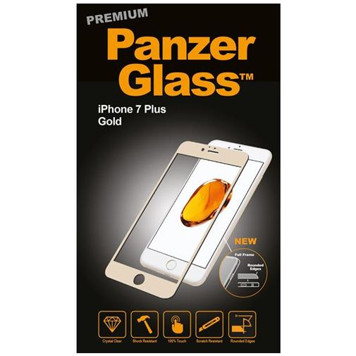 PanzerGlass Premium Screenprotector Gold Apple iPhone 7 Plus