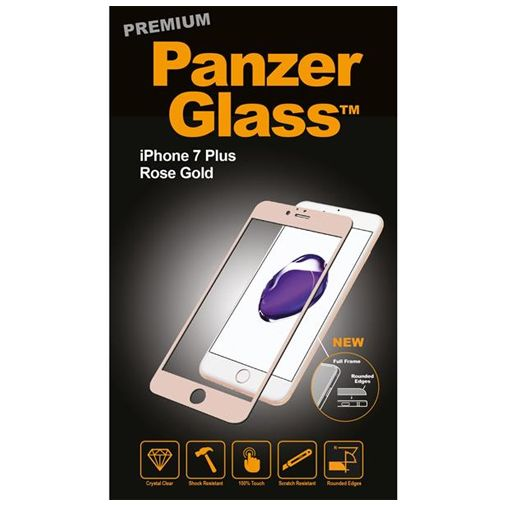 PanzerGlass Premium Screenprotector Rose Gold Apple iPhone 7 Plus