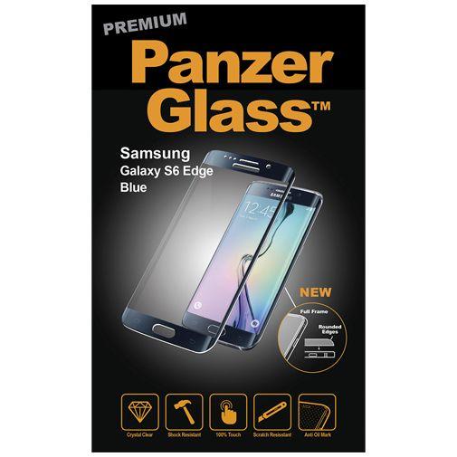 PanzerGlass Premium Screenprotector Black Blue Samsung Galaxy S6 Edge