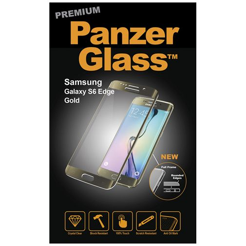PanzerGlass Premium Screenprotector Gold Samsung Galaxy S6 Edge