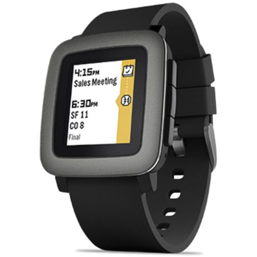 Pebble Time Smartwatch Black