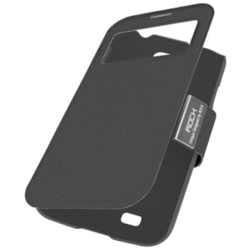 Rock Flexible Flip Case Black Samsung Galaxy S4 Mini
