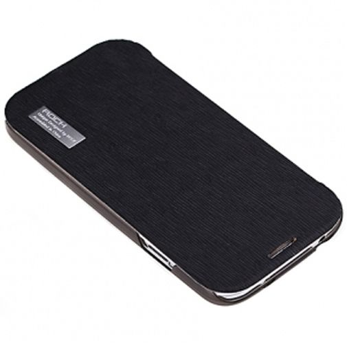 Rock Side Flip Case Elegant Black Samsung Galaxy S4