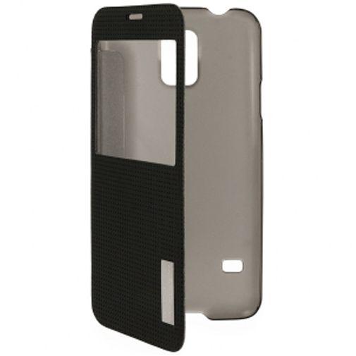 Rock Side Flip Case Elegant Black Samsung Galaxy S5