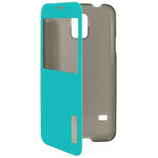 Rock Side Flip Case Elegant Blue Samsung Galaxy S5