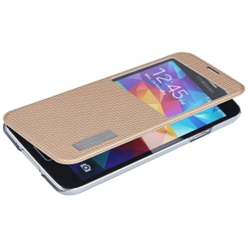 Rock Side Flip Case Elegant Champagne Gold Samsung Galaxy S5