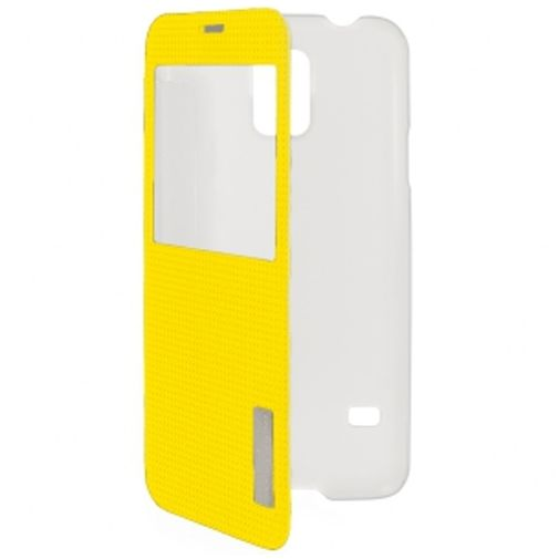 Rock Side Flip Case Elegant Lemon Yellow Samsung Galaxy S5/S5 Plus/S5 Neo