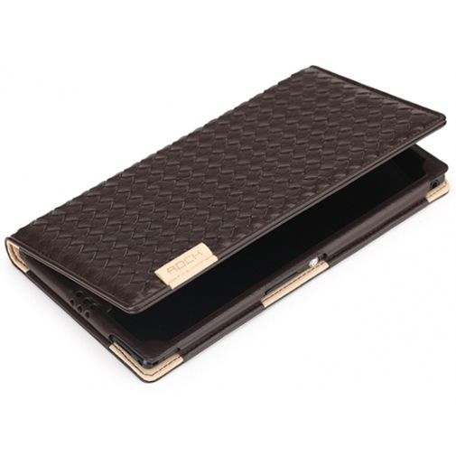 Rock Weaver Side Flip Case Coffee Sony Xperia Z Ultra