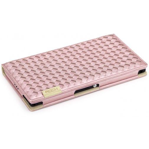 Rock Weaver Side Flip Case Pink Sony Xperia Z Ultra
