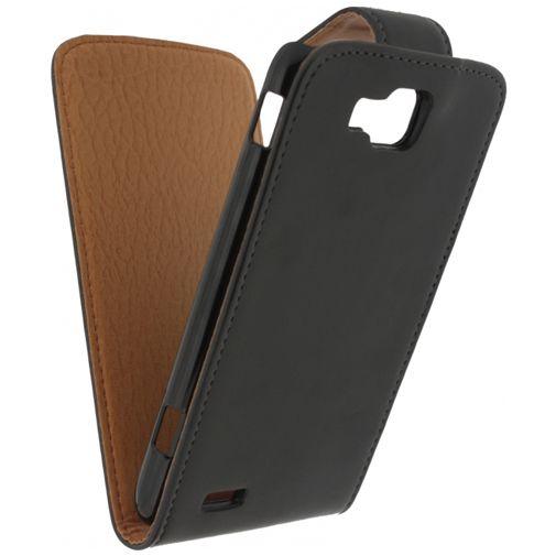 Productafbeelding van de Xccess Leather Flip Case Black Samsung Ativ S i8750