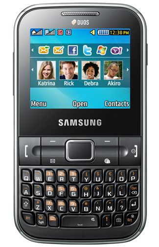 Samsung C3222 Chat DuoSim Black