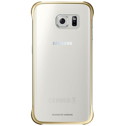 Samsung Clear Cover Gold Galaxy S6 Edge