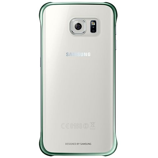 Samsung Clear Cover Green Galaxy S6 Edge