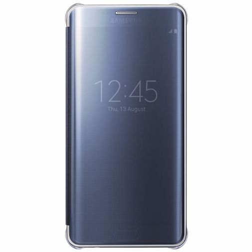Productafbeelding van de Samsung Clear View Cover Blue Black Galaxy S6 Edge Plus
