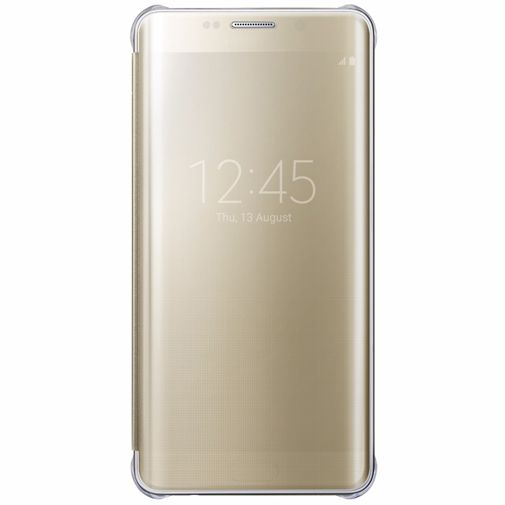 Samsung Clear View Cover Gold Galaxy S6 Edge Plus