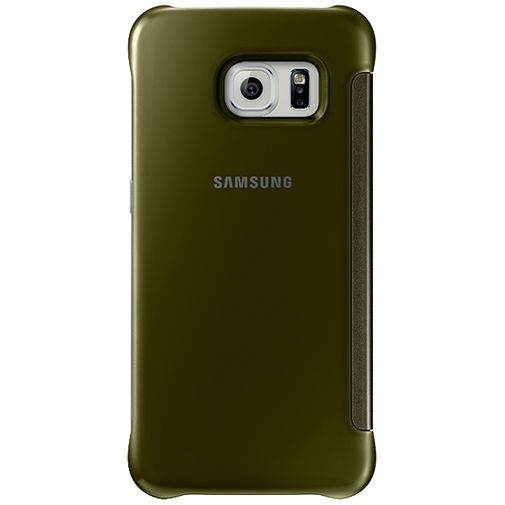 Samsung Clear View Cover Gold Galaxy S6 Edge
