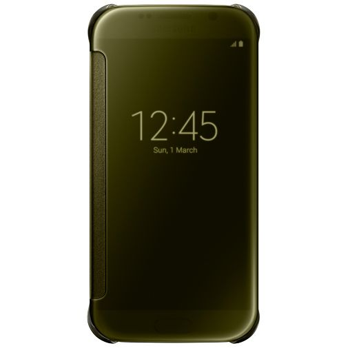 Samsung Clear View Cover Gold Galaxy S6
