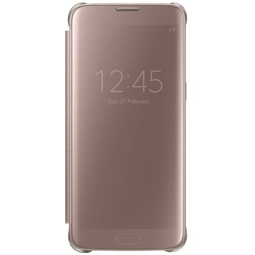 samsung clear view cover rose gold galaxy s7 edge accessoiredetails. Black Bedroom Furniture Sets. Home Design Ideas