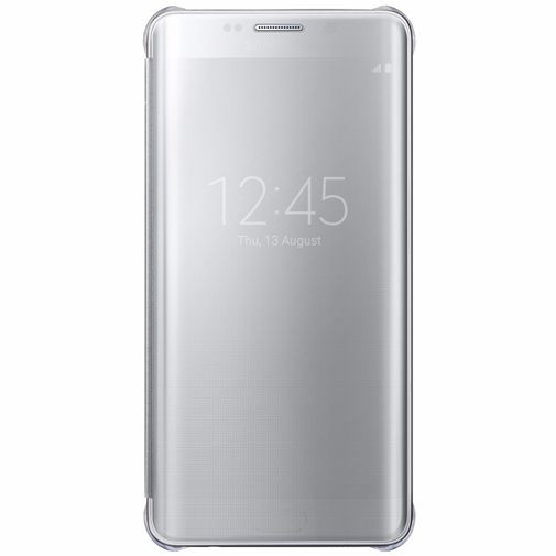 Productafbeelding van de Samsung Clear View Cover Silver Galaxy S6 Edge Plus