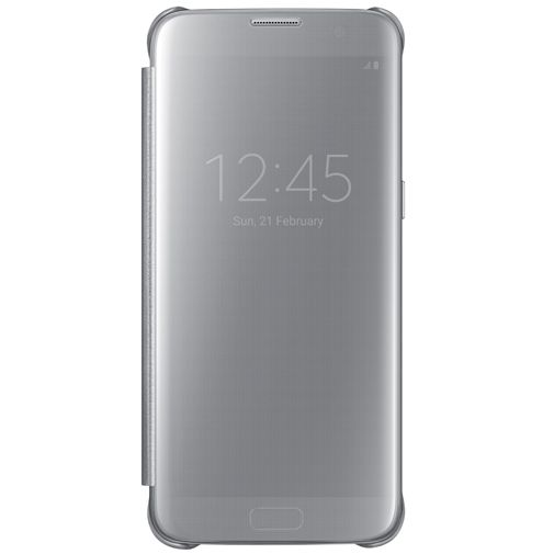 Samsung Clear View Cover Silver Galaxy S7 Edge